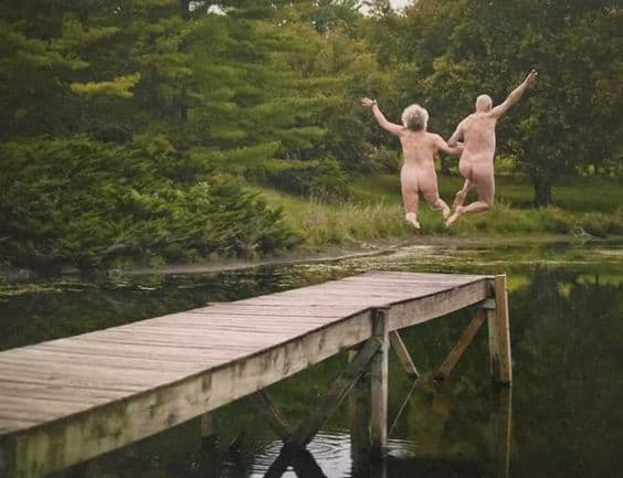 Old People Jumping